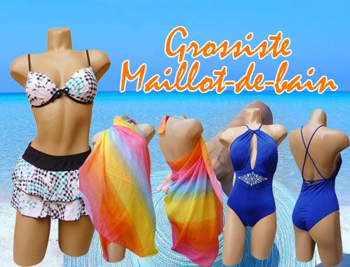 2020 : Grossiste Maillot de Bain vous propose de découvrir ses maillots de bain pour Homme, shorts, boxers, slips ou bermudas pour Femme, 1, 2 ou 3 pièces, pour Enfant et ses accessoires, sacs, serviettes...